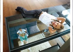 Ervaar het verrassende effect van beloopbaar glas
